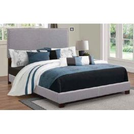 Basics Charcoal Twin Bed With Nailhead