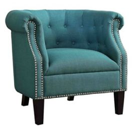 Karlock Teal Accent Chair