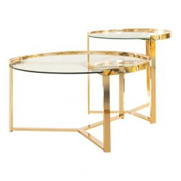 Forsyth Gold 2Pc Nesting Table