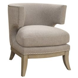 Georgio Grey Barrel Back Chair