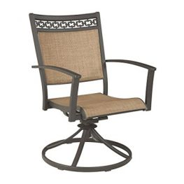 Carmello Outdoor Sling Swivel Chair