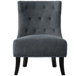 Dianne Accent Chair, Gray 100% Polyester