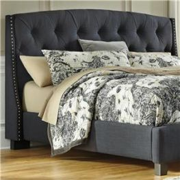 Kasidon Dark Grey King Upholstered Head Board