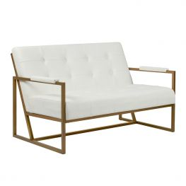 Waldorf White Loveseat