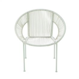 Jude Metal Plstc White Chair
