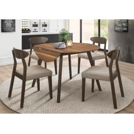 Beane Round Dining Table with 2 Drop Leaves