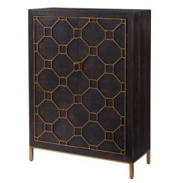 Fairmont Rustic Brown Bar Cabinet