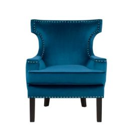 Timothy Blue Velvet Accent Chair
